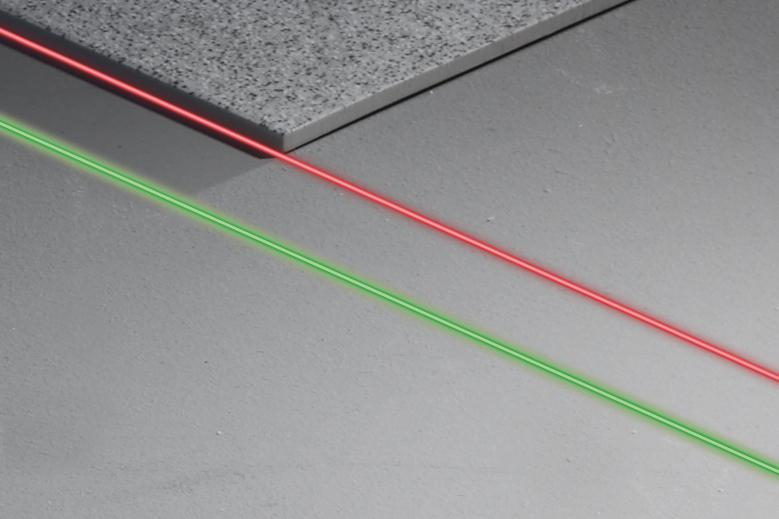 rote und grüne Lasertechnologie bei Rotationslasern
